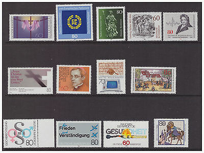 Germany West 1984 mint  MNH stamps selection of 13 difference issues
