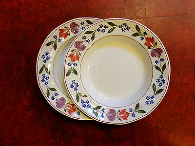 ADAMS OLD COLONIAL rimmed soup / cereal bowls