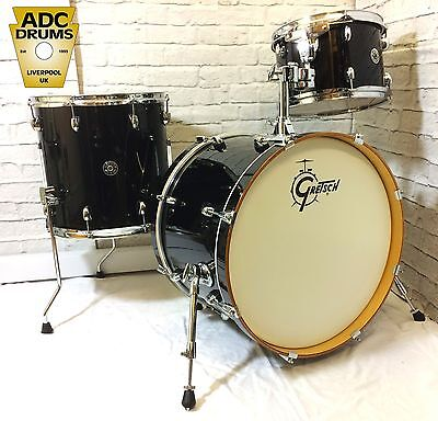 Gretsch Catalina Club Piano Black Lacquer Drum Kit with EVANS Calftone Heads!