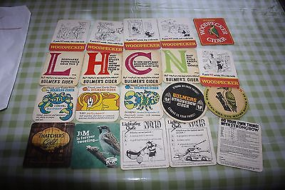 Collection of 20 Cider Beermats 11P80