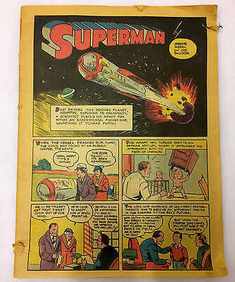 Superman #1 Famous First Edition C-61 Newspaper Style Comic Book