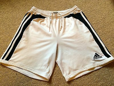 used mens white Adidas football shorts (34 in. waist)