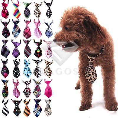 Cat Dog Teddy Réglable Cravate Animaux Novelty Grooming Collier d'arc Echarpe