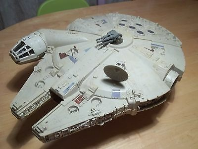 star wars vintage millenium falcon 1979 almost complete, working electronics