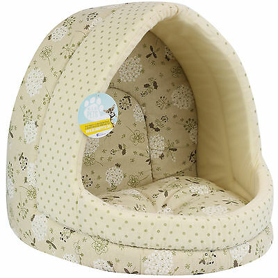 Me & My Large Floral Cat/dog Igloo Pet Bed Big Warm House/mat/snug Puppy/kitten