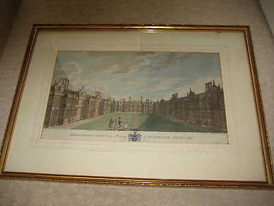 COLOURED LITHOGRAPH OF SISSINGHURST KENT GODFREY SCULP LATE 18th C