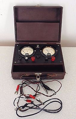 Vintage DKW Auto Union Audi Classic Car Bike Ammeter & Voltmeter Battery Checker