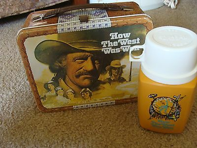 Vintage 1978 How The West Was Won Metal Lunchbox & Thermos