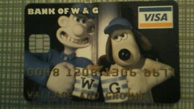 Wallace and gromit novelty credit card