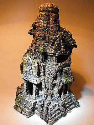 Large Aquarium Ornament Ancient Cambodian Temple Ruins Fish Tank Decoration
