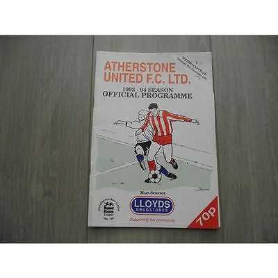 1993-94 Atherstone United v Waterlooville - Beazer Homes Premier
