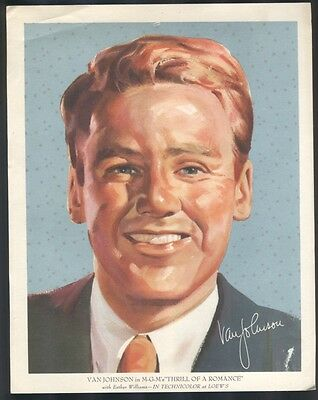 """Van Johnson Color Giveaway Picture from MGM's """"Thrill of a Romance"""""""