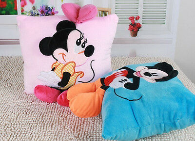 2016 Hot Sale 3D Plush Pillow Mickey Mouse And Disney Minnie Head Cushion  New