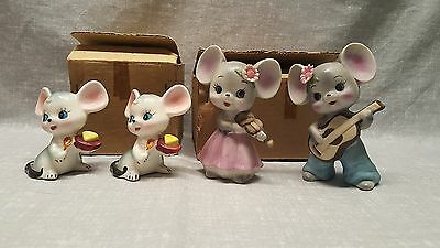 Inarco Mouse figurine lot of 4 w/ boxes mice
