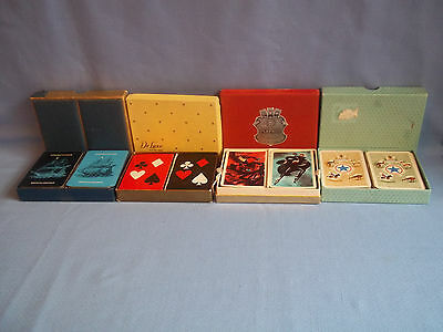 Vintage Playing Cards Twin Decks In Boxes X 4