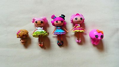 3 Mini Lalaloopsy Dolls With Accessories