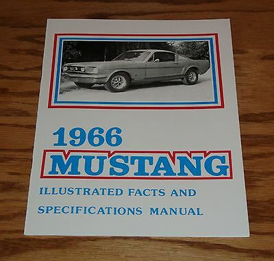 1966 Ford Mustang Illustrated Facts Specification Manual Brochure 66