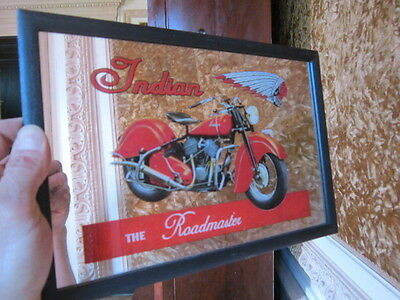 glace cadre MOTO INDIAN ROADMASTER decoration vintage