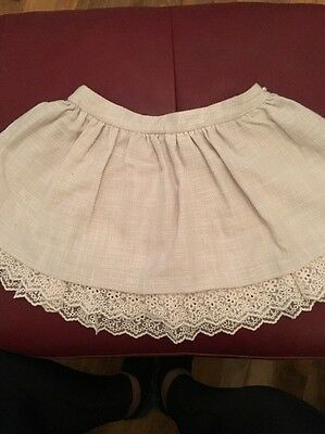 Mayoral Skirt Age 7 Years Beige With Cream Frill Trim Beautiful On
