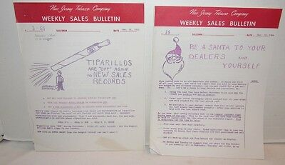 New Jersey Tobacco Company Sales Bulletins, 39 issues