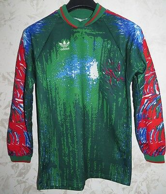 Maglia Jersey Shirt Calcio Football Portiere Goalkeeper Adidas Size M France Old