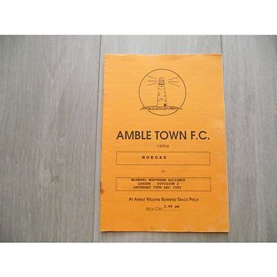 1992-93 Amble Town v Norgas - Northern Alliance