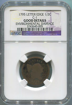 1795 Liberty Cap Half Cent. Letter Edge. C-1. NGC Good Details