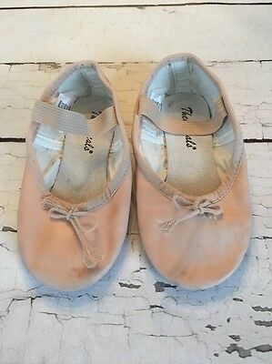 Girls Theatricals Ballet Slippers Leather Sole 10M Pink Dance Shoes Gymnastics