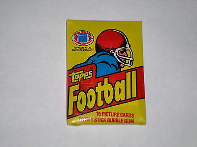 1981 Topps Wax Pack Football NFL