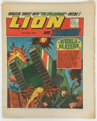 Lion and Thunder - 13th May 1972 - IPC - Adam Eterno - Steel Commando