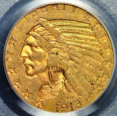 1913-S $5.00 Gold Indian Graded as AU-50 by PCGS