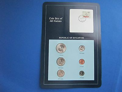 Coin Sets Of All Nations Republic Of Singapore With Information Card
