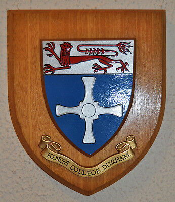 King's College Durham plaque shield coat of arms university