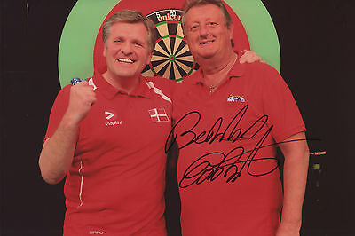 Eric Bristow hand signed 12 x 8 Darts