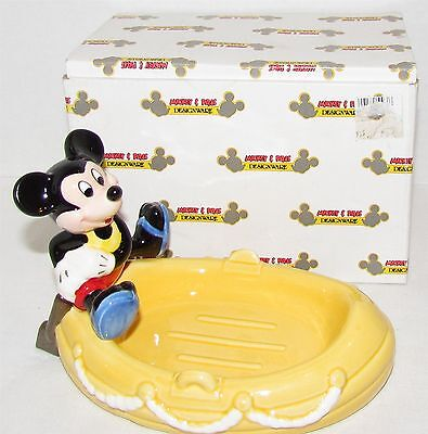 Applause Mickey Mouse on Boat Soap Dish MIB