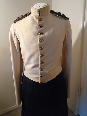 Original Victorian Black Watch Officer's White Stable Jacket