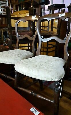 pair of vintage balloon back chairs