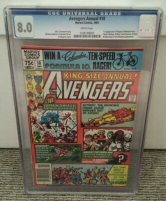 Avengers Annual #10 CGC 8.0, 1st Appearance of Rogue & Madelyn Pryor! X-men