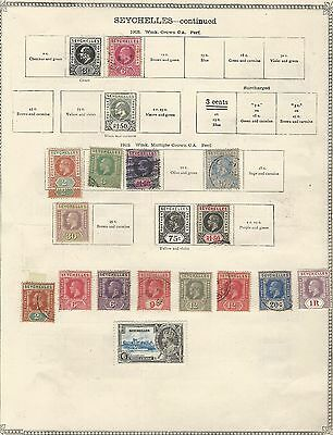 Seychelles: Rest collection earlies, only king, mint and used. SY03