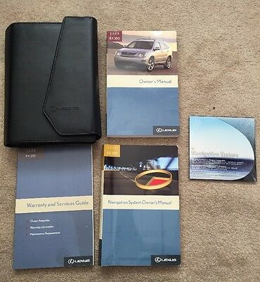 2008 Lexus RX350 Owners Manual Set With Navigation Guide CD And Case