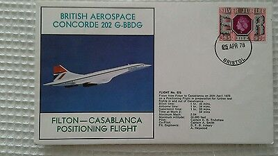 British Aerospace Concorde 202 Positioning Flight Filton - Casablanca