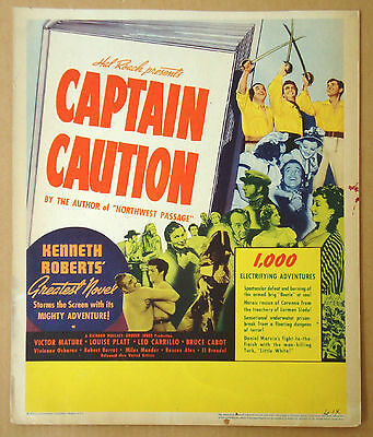 CAPTAIN CAUTION Leo Carrillo VICTOR MATURE Bruce Cabot WINDOW CARD POSTER