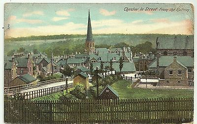 Co Durham postcard Chester le Street from the Railway