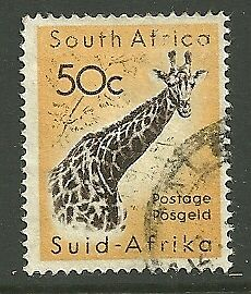 South Africa A Used 50C. Stamp Of 1961