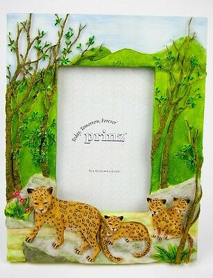 "Jungle Cats Frame for 4"" x 6"" Photo NEW"