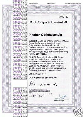 COS Computer Systems AG  1er-OS 1988