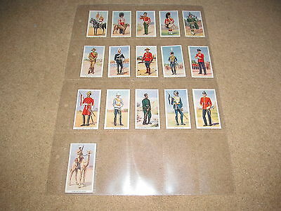 Godfrey Phillips 1939 - SOLDIERS OF THE KING - 16 cigarette cards