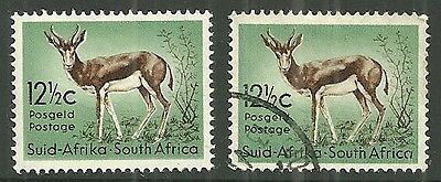 SOUTH AFRICA A 12 1/2c. mm & used stamps 1961