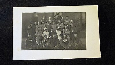 Ww1 Rppc Of Group Of Patients And Nurses. Good Condition.