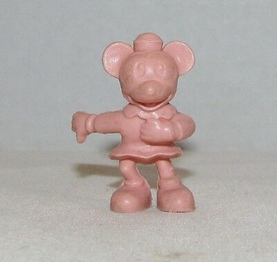 Vintage Marx Monty Mouse 60 mm plastic figure in pink